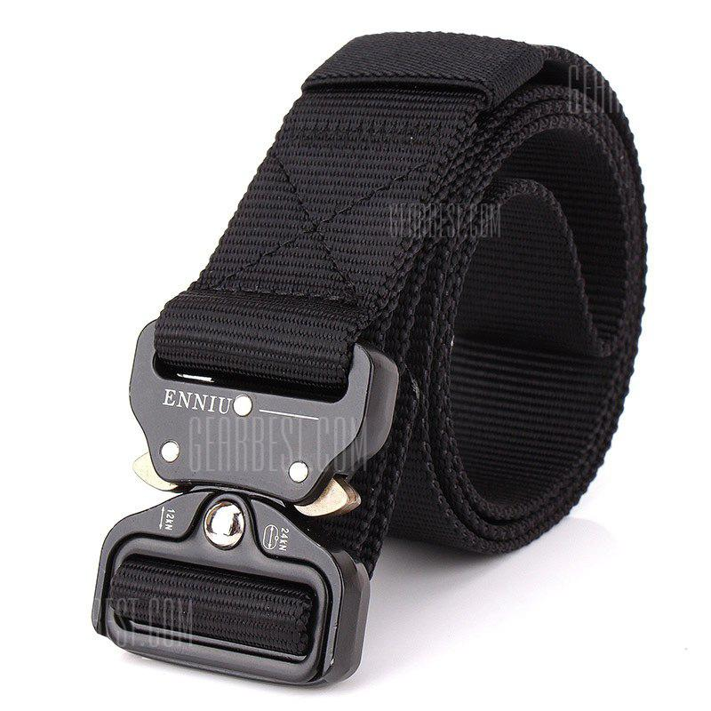 ENNIU Male Outdoor Tactical Training Belt with Cobra Buckle