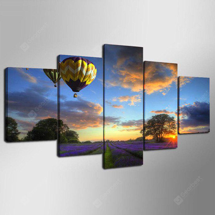 YSDAFEN Framed Prints Creative Landscape Wall Art 5PCS