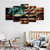 jingsheng Retro Unframed Prints Flag Wall Art 5PCS - COLORI MISTI