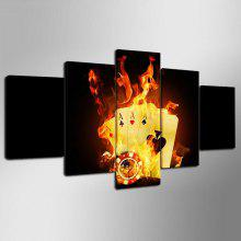 YSDAFEN IM - 22 Canvas Print Poker Home Decor 5PCS