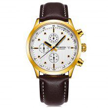 OCHSTIN Men's Luminous Casual Leather Band Quartz Watch