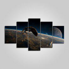 YSDAFEN IM - 61 Space Scene Framed Canvas Print 5PCS