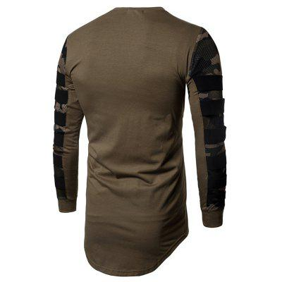 Fashion Camouflage Mesh Long Sleeves Asymmetric T-shirtMens Long Sleeves Tees<br>Fashion Camouflage Mesh Long Sleeves Asymmetric T-shirt<br><br>Material: Cotton, Polyester<br>Neckline: Round Neck<br>Package Content: 1 x T-shirt<br>Package size: 30.00 x 35.00 x 1.00 cm / 11.81 x 13.78 x 0.39 inches<br>Package weight: 0.3200 kg<br>Product weight: 0.3000 kg<br>Season: Autumn<br>Sleeve Length: Long Sleeves<br>Style: Fashion