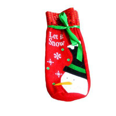 Фото MCYH HY184 Christmas Wine Bottle Decoration Cloth 1pc. Купить в РФ