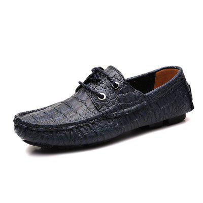 Men\s Modern Crocodile Driving Flat LoaferFlats &amp; Loafers<br>Men\s Modern Crocodile Driving Flat Loafer<br><br>Closure Type: Lace-Up<br>Contents: 1 x Pair of Shoes, 1 x Box<br>Function: Slip Resistant<br>Materials: Rubber, Leather<br>Occasion: Tea Party, Shopping, Office, Holiday, Party, Casual, Daily, Dress<br>Outsole Material: Rubber<br>Package Size ( L x W x H ): 31.00 x 20.00 x 13.00 cm / 12.2 x 7.87 x 5.12 inches<br>Package weight: 0.9200 kg<br>Pattern Type: Solid<br>Product weight: 0.7800 kg<br>Seasons: Autumn,Spring<br>Style: Modern, Leisure, Fashion, Comfortable, Casual, Business<br>Toe Shape: Round Toe<br>Type: Flat Shoes<br>Upper Material: Leather
