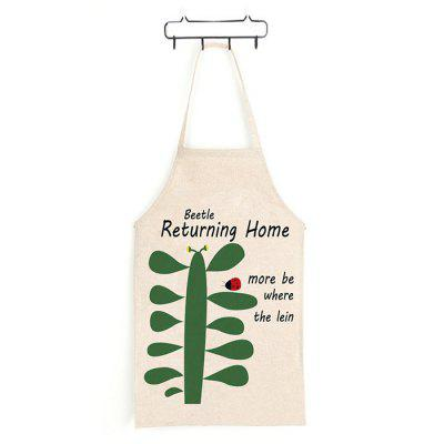 Japanese Style Cactus Letters Printed Parent-child Apron