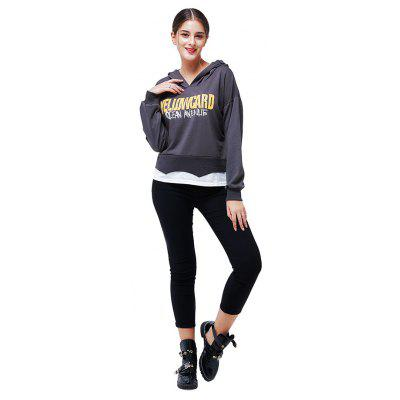 Фото Fashion Casual Letters Printing Spliced Hoodie. Купить в РФ