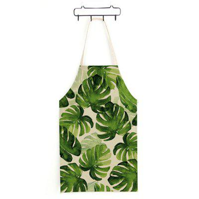 Japanese Style Green Leaves Printed Parent-child Apron