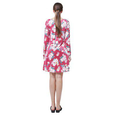 Trendy Long Sleeves Round Neck Flounce DressWomens Dresses<br>Trendy Long Sleeves Round Neck Flounce Dress<br><br>Dresses Length: Knee-Length<br>Material: Polyester, Spandex<br>Package Contents: 1 x Dress<br>Package size: 35.00 x 28.00 x 3.00 cm / 13.78 x 11.02 x 1.18 inches<br>Package weight: 0.2200 kg<br>Pattern Type: Others<br>Product weight: 0.1900 kg<br>Season: Fall, Spring<br>Silhouette: A-Line<br>Style: Leisure<br>With Belt: No
