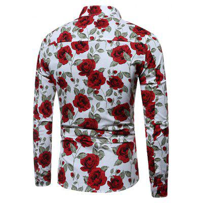 Fashion Floral Printing ShirtMens Shirts<br>Fashion Floral Printing Shirt<br><br>Closure Type: Button<br>Material: Cotton Blends, Polyester<br>Package Contents: 1 x Shirt<br>Package size: 34.00 x 30.00 x 0.20 cm / 13.39 x 11.81 x 0.08 inches<br>Package weight: 0.1800 kg<br>Product weight: 0.1600 kg<br>Thickness: Regular