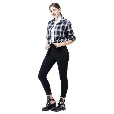Фото Casual Long Sleeve Plaid Shirt for Women. Купить в РФ