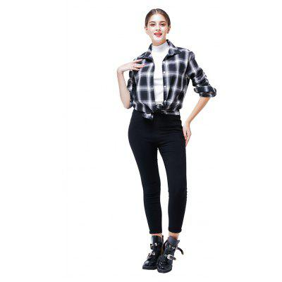 Casual Long Sleeve Plaid Shirt for Women