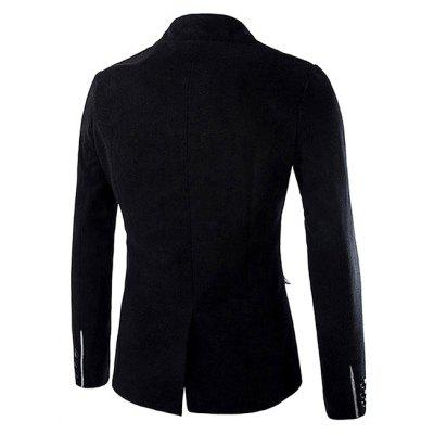 Long Sleeve Single Breasted Wool JacketMens Blazers<br>Long Sleeve Single Breasted Wool Jacket<br><br>Closure Type: Button<br>Material: Cotton, Lambsdown<br>Package Contents: 1 x Wool Jacket<br>Package size: 35.00 x 25.00 x 2.00 cm / 13.78 x 9.84 x 0.79 inches<br>Package weight: 1.0200 kg<br>Product weight: 1.0000 kg<br>Thickness: Regular