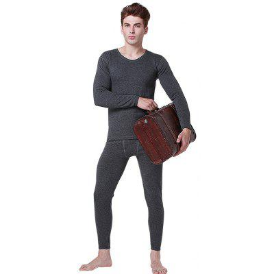 Warm Breathable Solid Color Underwear SuitMens Underwear &amp; Pajamas<br>Warm Breathable Solid Color Underwear Suit<br><br>Material: Cotton, Cotton Blends<br>Package Contents: 1 x Top, 1 x Pair of Pants<br>Package size: 35.00 x 25.00 x 2.00 cm / 13.78 x 9.84 x 0.79 inches<br>Package weight: 0.8200 kg<br>Pattern: Solid Color<br>Product weight: 0.8000 kg<br>Style: Casual<br>Thickness: Regular