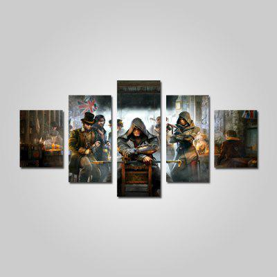 God Painting Trendy Movie Figure Canvas Print 5PCS