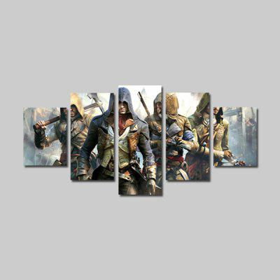 God Painting Canvas Prints Soldiers Hanging Wall Art 5PCS