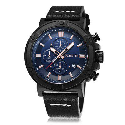OCHSTIN Men\s Luminous Versatile Leather Band Quartz WatchMens Watches<br>OCHSTIN Men\s Luminous Versatile Leather Band Quartz Watch<br><br>Band material: Genuine Leather<br>Brand: OCHSTIN<br>Case material: Alloy<br>Clasp type: Pin buckle<br>Display type: Analog<br>Movement type: Quartz watch<br>Package Contents: 1 x Watch, 1 x Box<br>Package size (L x W x H): 15.50 x 7.80 x 4.50 cm / 6.1 x 3.07 x 1.77 inches<br>Package weight: 0.1730 kg<br>Product size (L x W x H): 22.00 x 4.40 x 1.30 cm / 8.66 x 1.73 x 0.51 inches<br>Product weight: 0.0930 kg<br>Shape of the dial: Round<br>Special features: Luminous, Date, Day<br>Watch mirror: Mineral glass<br>Watch style: Casual, Business, LED, Fashion, Cool<br>Watches categories: Men