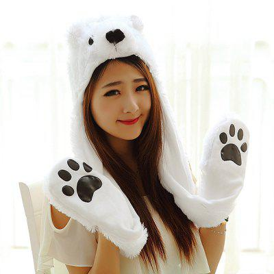 Female Children Winter Animal Head Gear Cap Gloves ScarfWomens Hats<br>Female Children Winter Animal Head Gear Cap Gloves Scarf<br><br>Contents: 1 x Head Gear<br>Gender: Women<br>Material: Plush<br>Package size (L x W x H): 15.00 x 10.00 x 10.00 cm / 5.91 x 3.94 x 3.94 inches<br>Package weight: 0.2200 kg<br>Pattern Type: Animal<br>Product weight: 0.2000 kg<br>Style: Novelty<br>Type: Plush