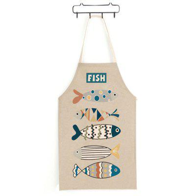 Cute Fish Pattern Apron