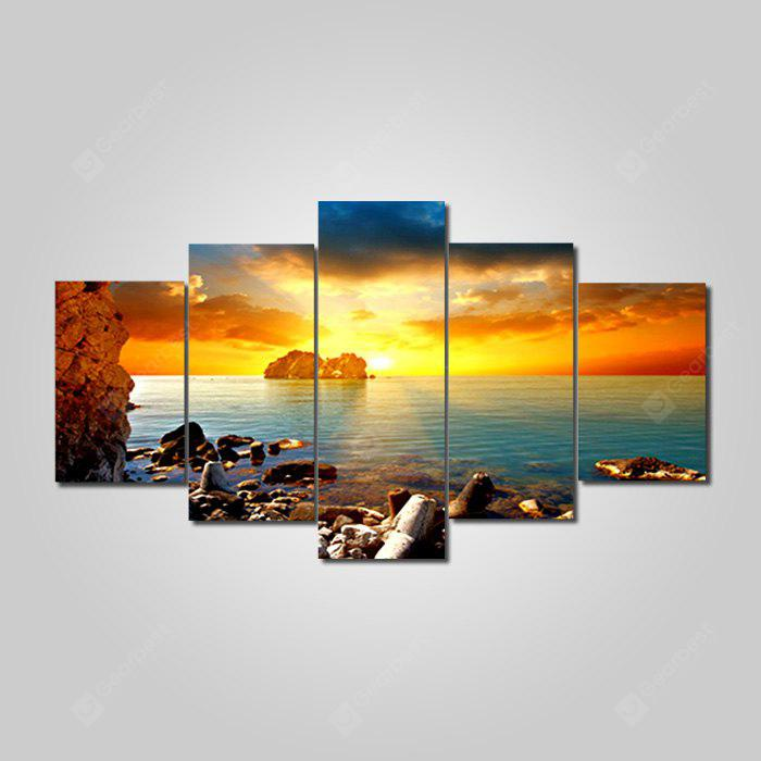 jingsheng Dusk Scenery Seascape Decorative Print 5PCS