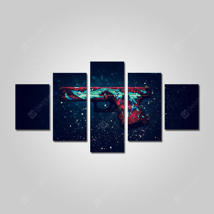 Dios Pintura Lienzos Impresiones Starry Sky Hanging Wall Art 5 UNIDS