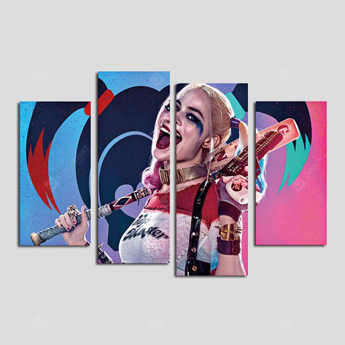 Dio Pittura Cool Lady Frameless Canvas Print Decor 4PCS