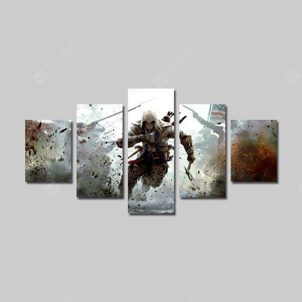 God Painting Canvas Prints Soldier Hanging Wall Art 5PCS