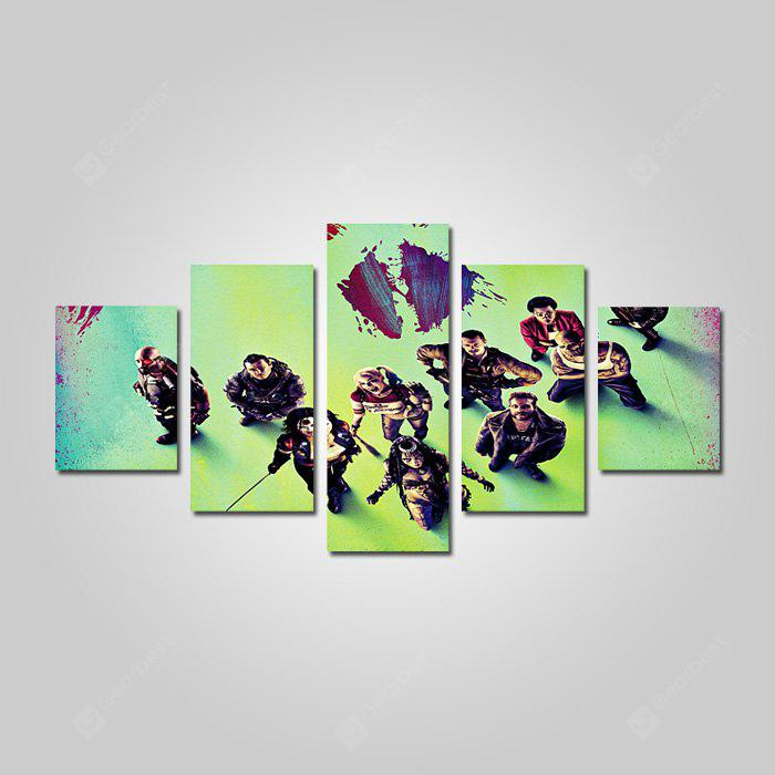 God Painting Cool Movie Star Figura Canvas Print 5PCS
