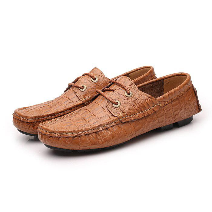 factory outlet for sale shipping discount authentic Men's Modern Crocodile Driving Flat Loafer high quality sale online hXMse9