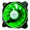 1STPLAYER Fire Ring 120mm 15 LEDs Silent Cooling Case Fan - GREEN