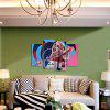 Dio Pittura Cool Lady Frameless Canvas Print Decor 4PCS - COLORI MISTI