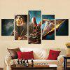 Figura fredda Frameless Canvas Print Wall Art Painting 5PCS - COLORI MISTI