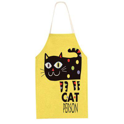 Grembiule in lino di cotone Cartoon Black Cat Cooking Accessories