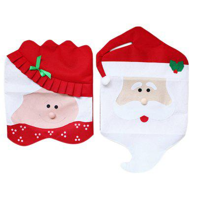 MCYH Christmas Decoration Chair Cover 2PCS