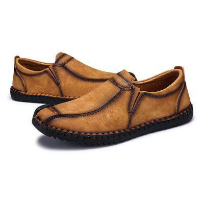 Male Vintage Soft Stitching Casual Flat Loafer