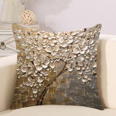 LAIMA BZ114 - 6 Retro Flower Pattern Flax Throw Pillow Case