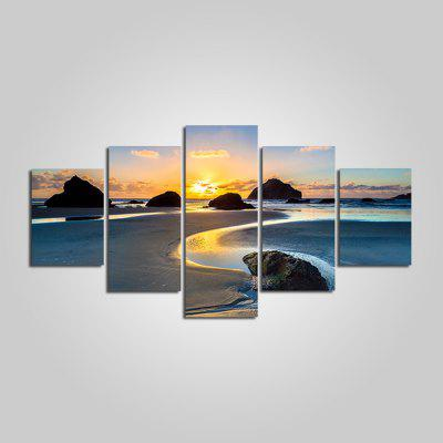 Modern Spectacular View Frameless Canvas Print 5PCS
