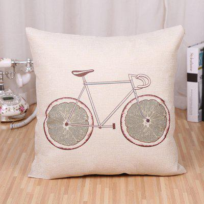 LAIMA BZ171 - 4 Bicycle Pattern Flax Throw Pillow Case