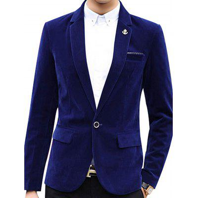 Pure Color Men Slim Fit Casual One Button Blazer Jacket