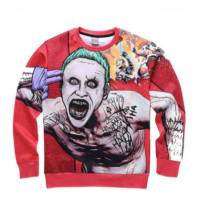 Mr 1991 INC Miss Go Horrific Man Printing Sweatshirt
