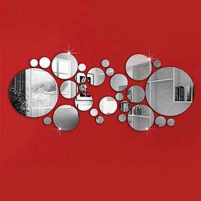 Removable Circle Mirror Wall Stickers for Home Decor 1 Set