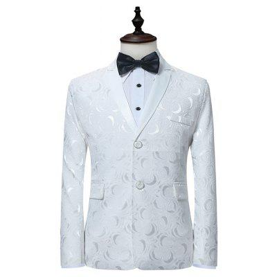 Stylish Two Buttons Printing Blazer Jacket