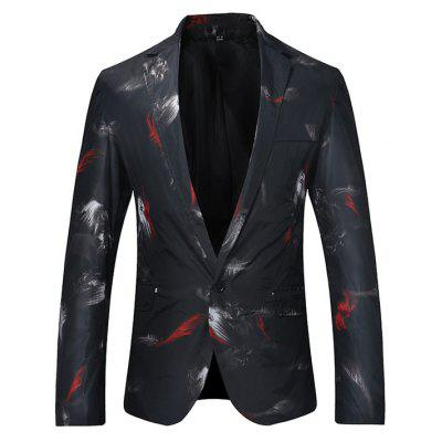 Fashion One Button Printing Blazer Jacket