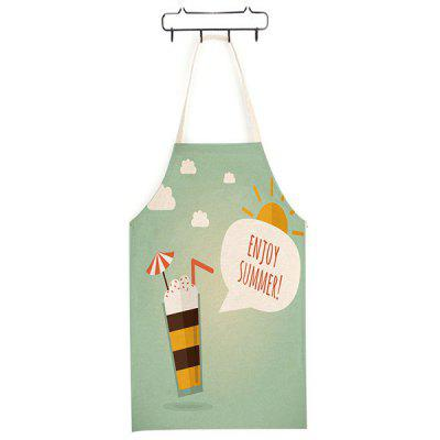 Durable Cute Ice Cream Pattern Printed Apron