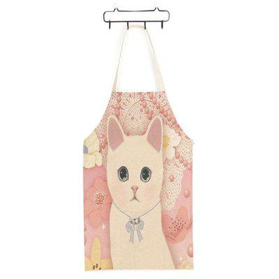 Durable Cute Pink Cat Printed Apron