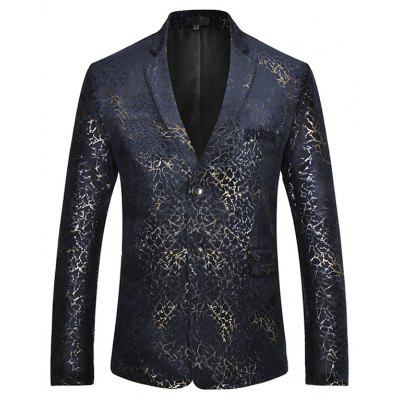 Trendy Men Slim Fit Casual Button up Blazer Jacket