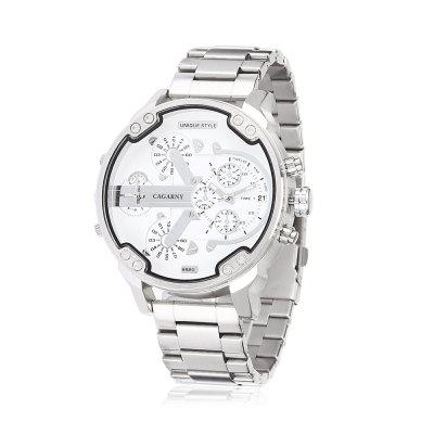 CAGARNY 6820 Trendy Steel Band Men Quartz Watch