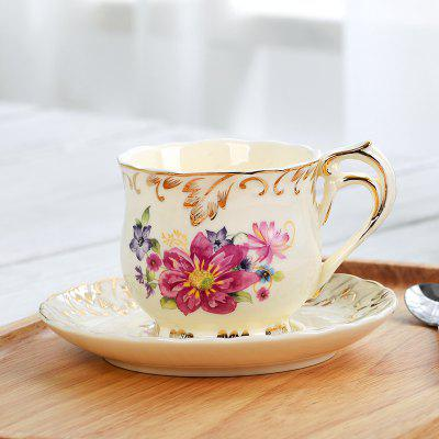 MCYH LG396 Exquisite Ivory Porcelain Coffee Cup Set