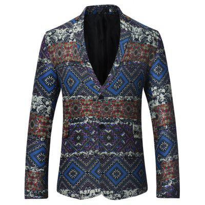 Male Unique Exotic Slim Fit Button up Blazer Jacket