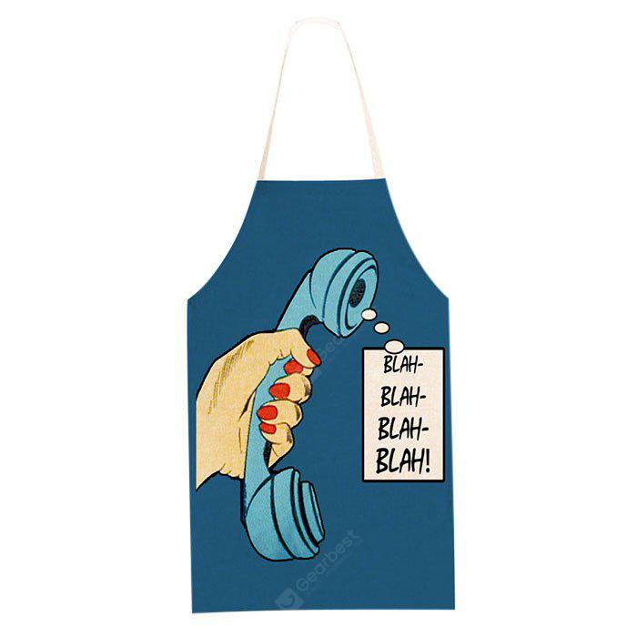 Telephone Printed Apron for Family Party Cooking
